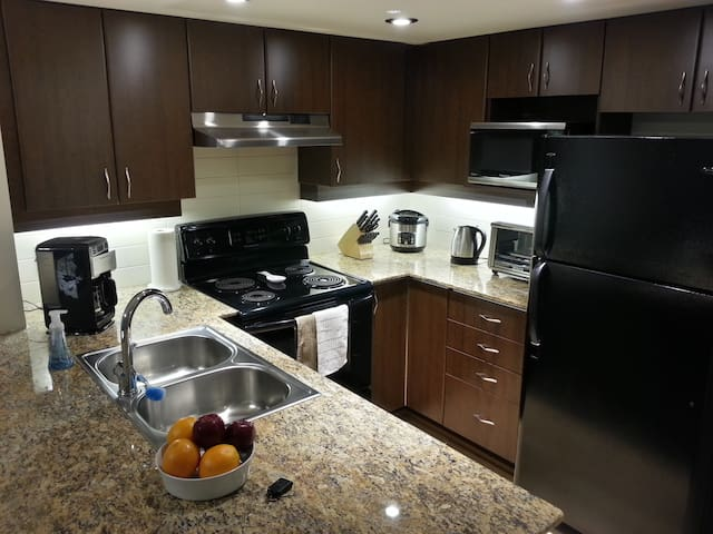 All new higher-end appliances. Granite countertops. Microwave.