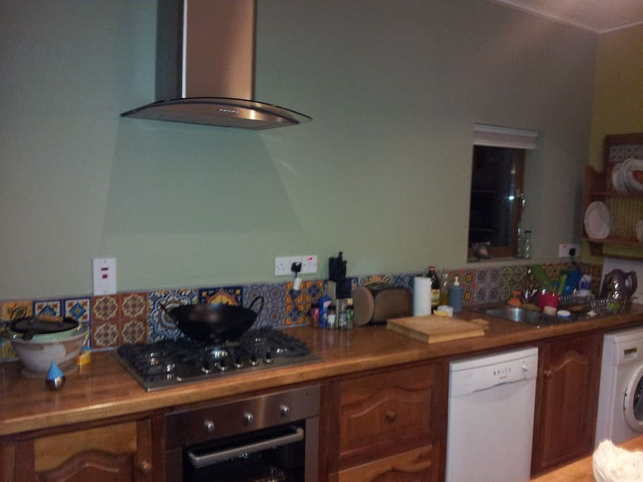 kitchen gas hob electric oven