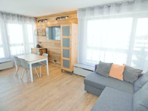 Studio à Tignes Le Lac | Grand Balcon Sud | WiFi