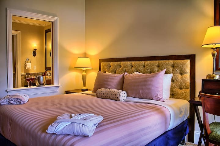 Drift to sleep in the comfortable King bed or 2 Single beds - let us know what you prefer!