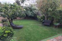 Your own private garden. An amazing space to play or a space to just lay around and relax.