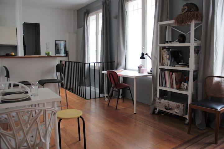 Bright & Spacious Artist's Studio Appartment - Paris