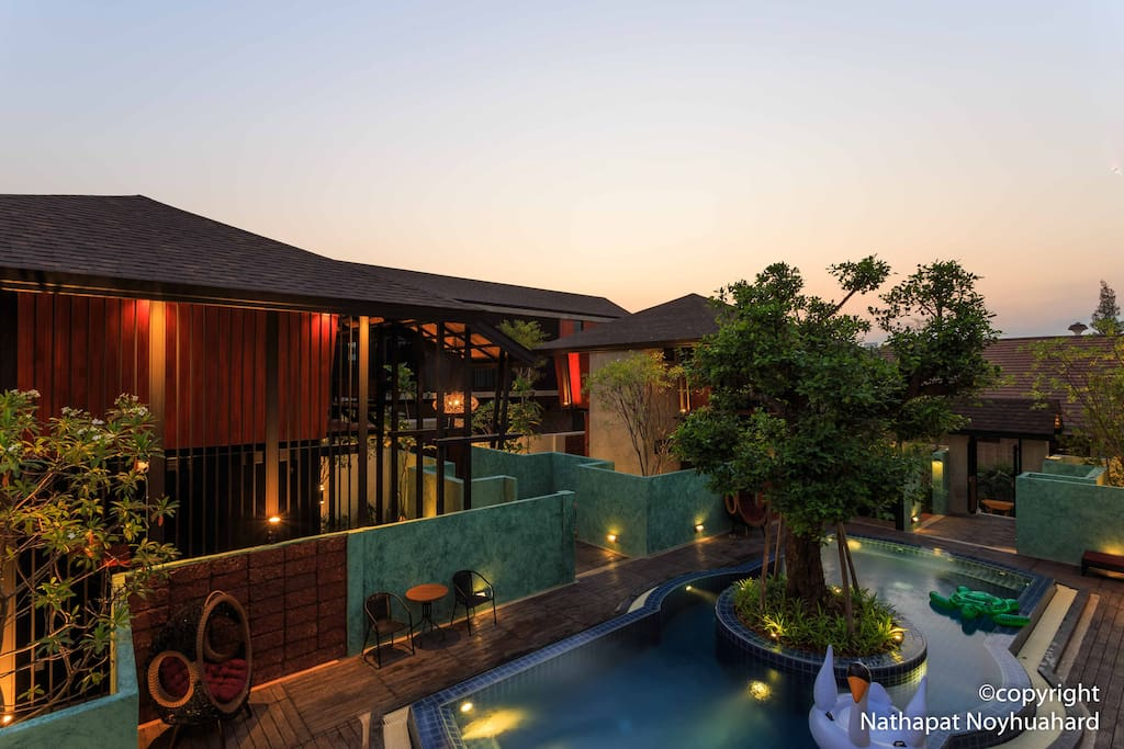 Cozy House With Swimming Pool With Plenty Of Tree Guesthouses For Rent In Chiang Mai Chiang