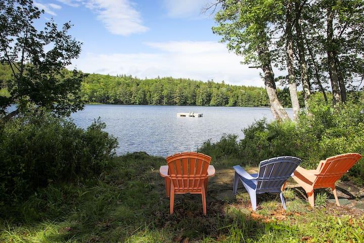 Deep pond calm, 2 hr from Boston, near Ragged Mtn