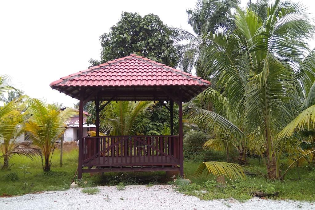 Gazebo space for tea time and curhat session with friend and families