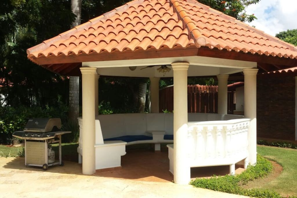 Gazebo area to hang out with BBQ