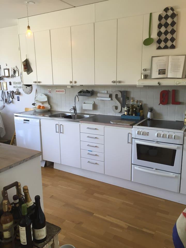 The kitchen part
