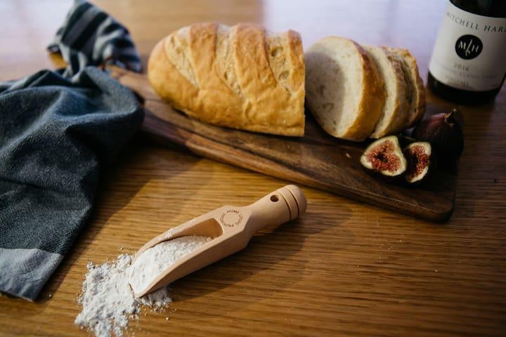 Sourdough, locally baked.