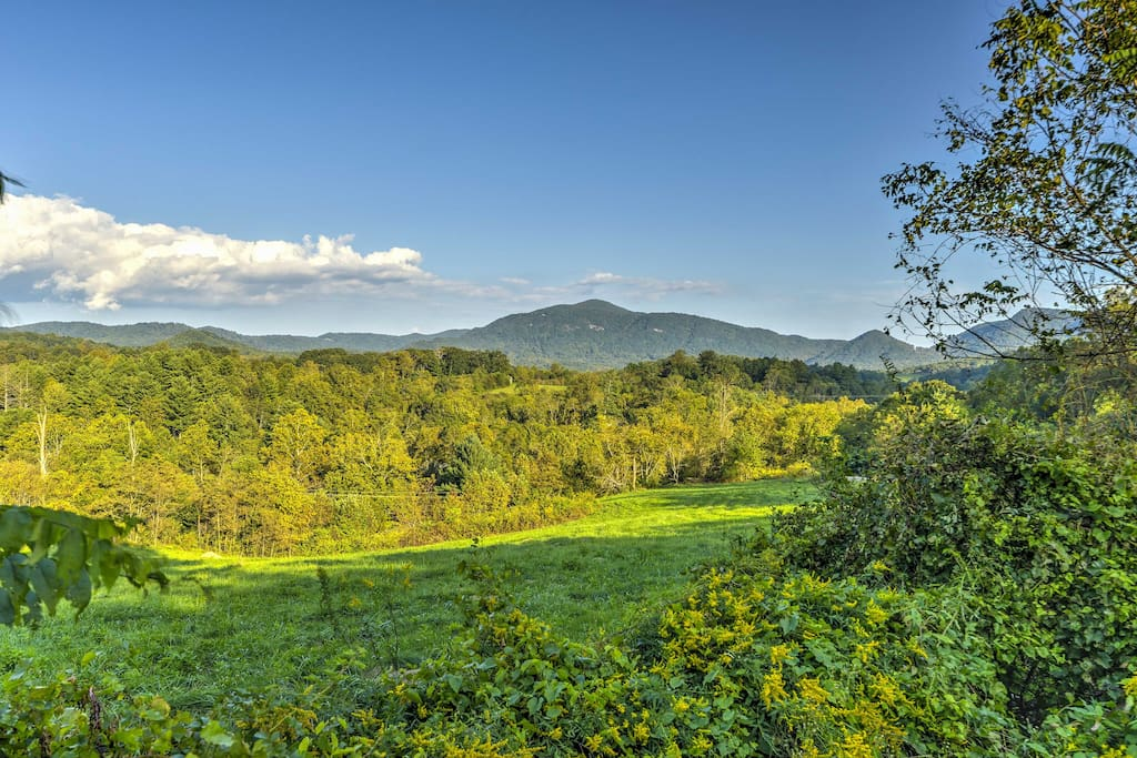 Roughly 15 minutes outside of Asheville, you'll have outstanding long-range views of the natural landscape while still being within close proximity to the bustling city!