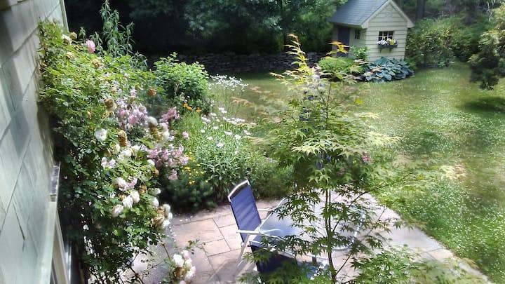 Serene New England Garden Apartment