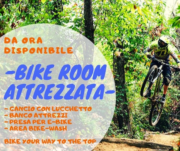 da ora disponibile BIKE ROOM  servizio incluso nel prezzo! BIKE YOUR WAY TO THE TOP !