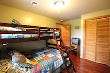 Third bedroom Has a Twin over Full Bunkbed