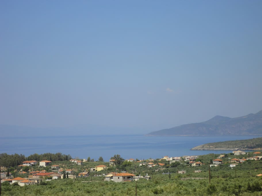 Panoramic view of Stoupa