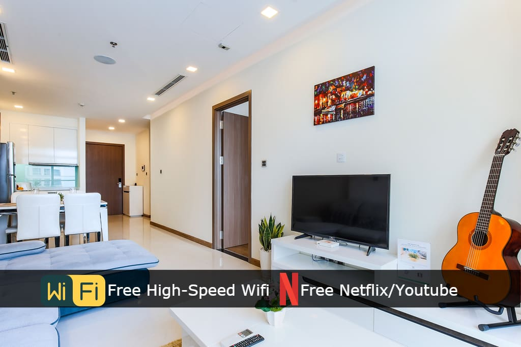 Enjoy and get entertained with our Smart TV, Free Netflix, Youtube.