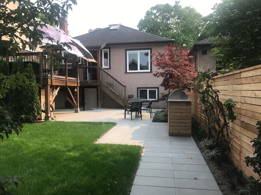 Backyard oasis in the centre of the city!