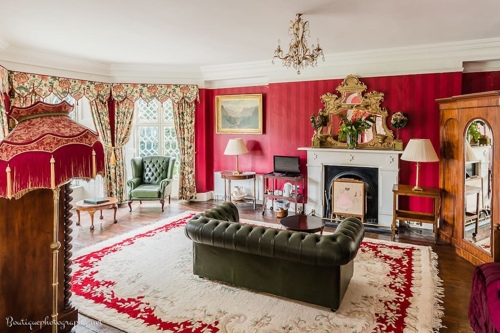The Red Room sitting area