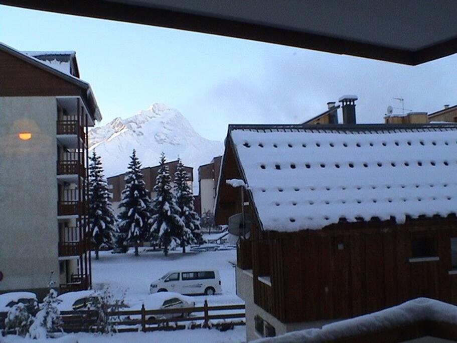 vue sur la muzelle depuis le balcon