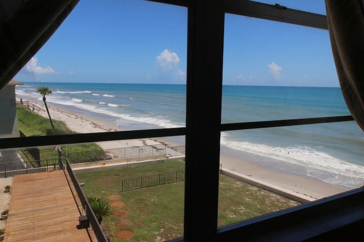 You can't get any closer to the beach! 2BR condo