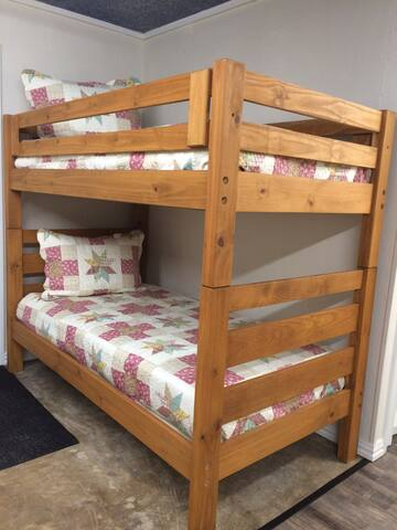Twin/Twin Bunkbed. Ladder is end of bed.