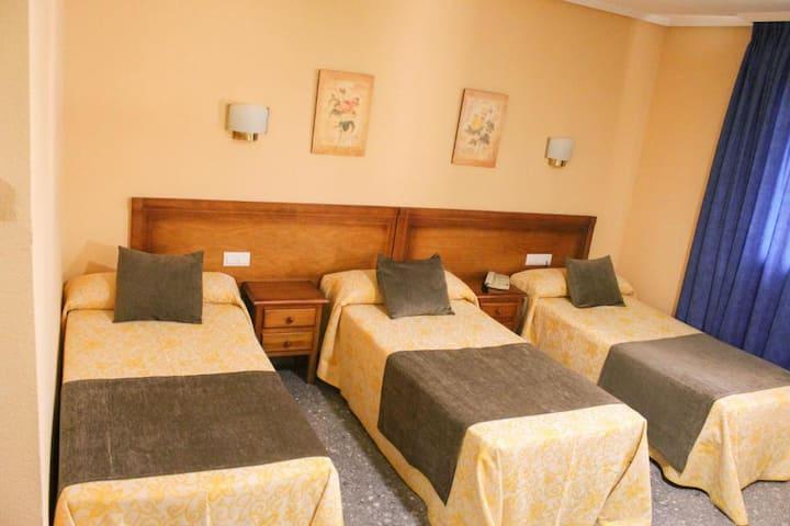 Habitación Doble con cama supletoria 3 personas