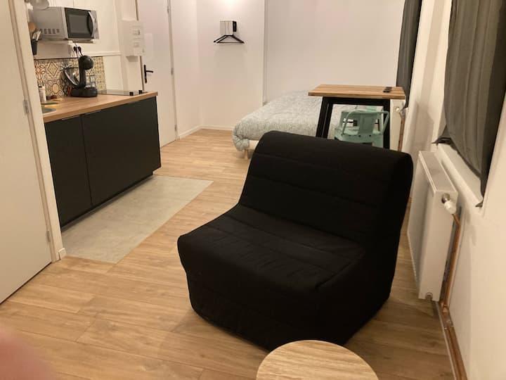 Studio meublé spacieux centre Gravelines
