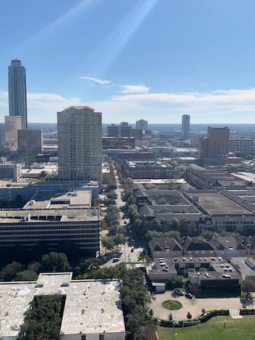 Amazing 28th floor views of downtown and galleria