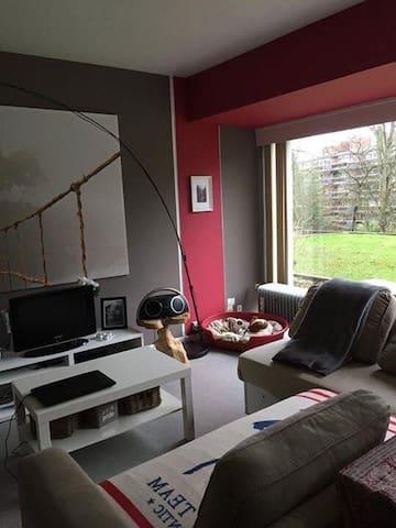 Studio dans un cadre verdoyant en plein Liege