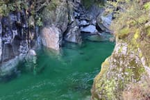 It's only a 20 minute walk from the road in Mt Aspiring National Park to the Blue Pools but you go through a fern forest, cross a swing bridge over a river and then come to the most amazing aquamarine pools, with fantails flying.