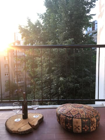 Enjoy sunset on a cozy terrace,     with a great view.