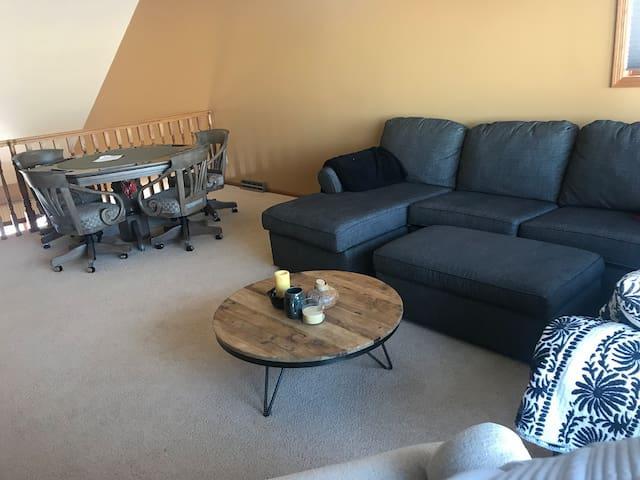 Lake Loft, two bedrooms, private bath, smart TV's