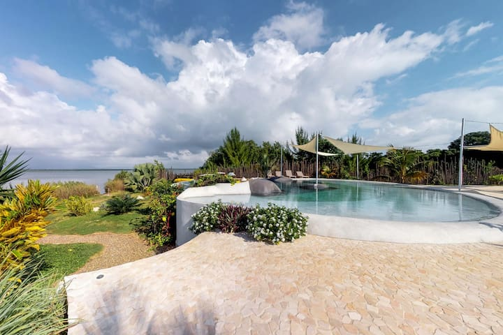 Romantic beachfront retreat w/ a shared pool & ocean views!