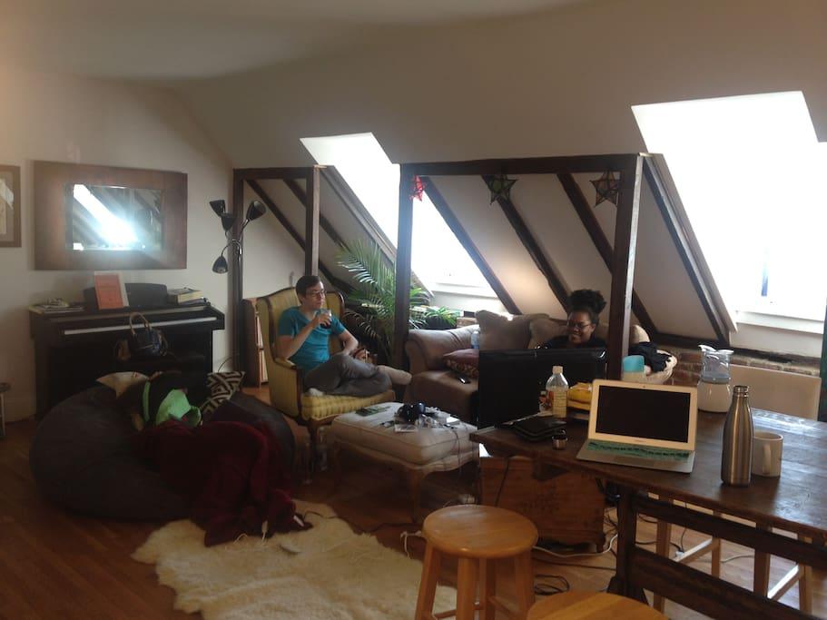 living room/roomies/friend
