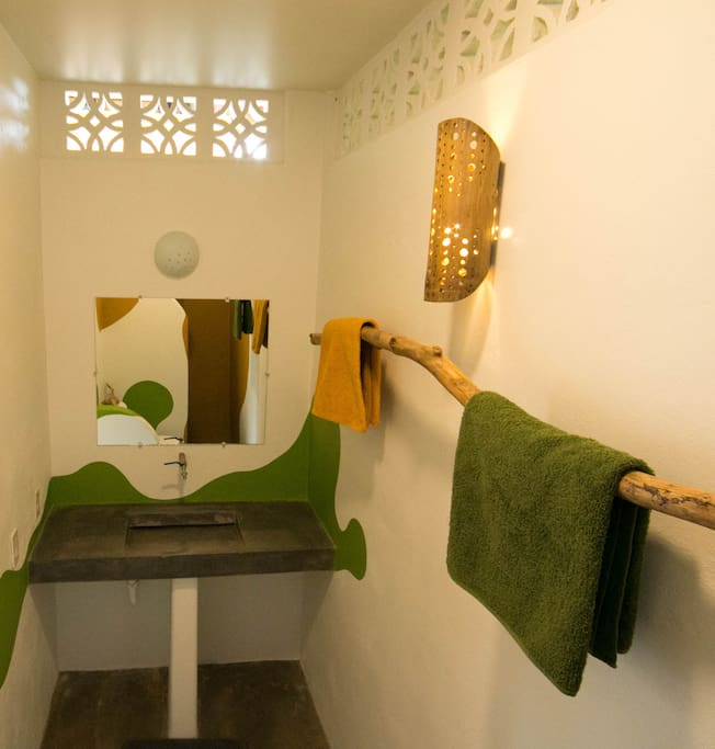 Each of our 4 rooms have a private bath