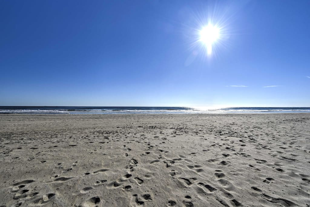 The famous Hampton beach is just a half block from your home-away-from-home.