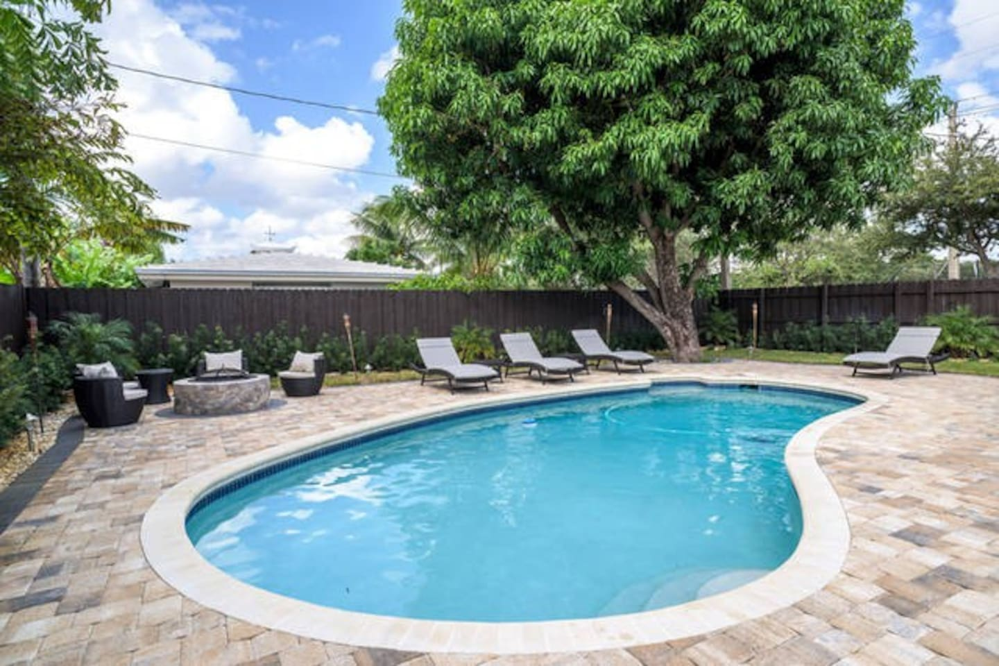 Enjoy full access to pool area.
