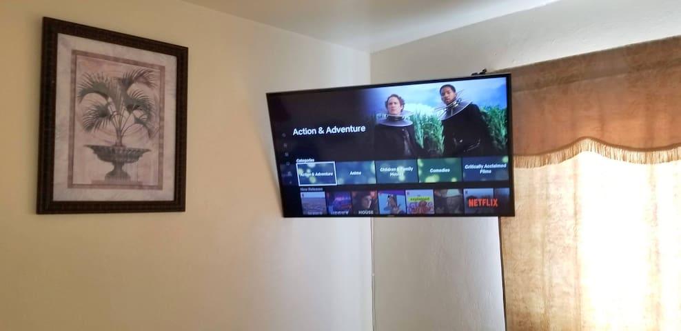 RECAMARA 1 SMART TV. DE 50 PULGADAS  CON NETFLIX