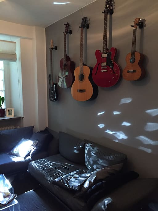 Living room (instruments will be put away, though ;) )
