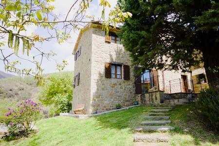 Stunning view Umbria villa close to Tuscany - Volterrano - Casa de camp