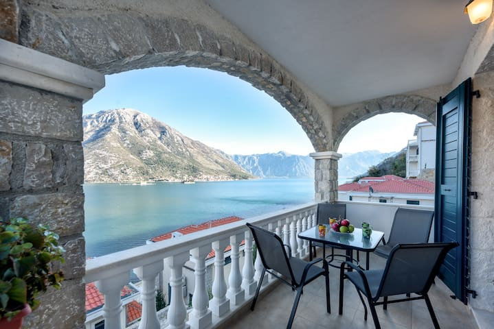 2-bedroom apartment with private beach and pool