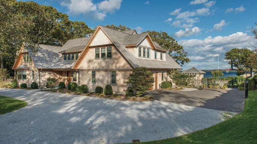 New Listing: Frontage on Shelter Island Sound, Deep Water Dock, Access to Private Bay Beach, Huge Finished Basement