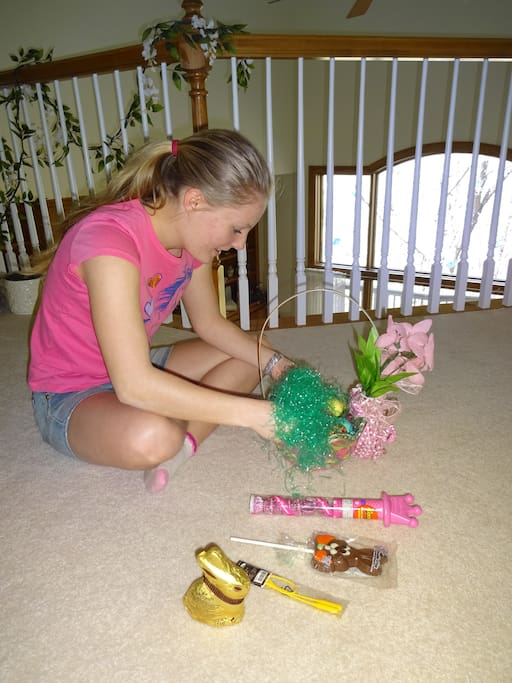 Easter basket cache