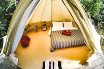 Private tent for 2