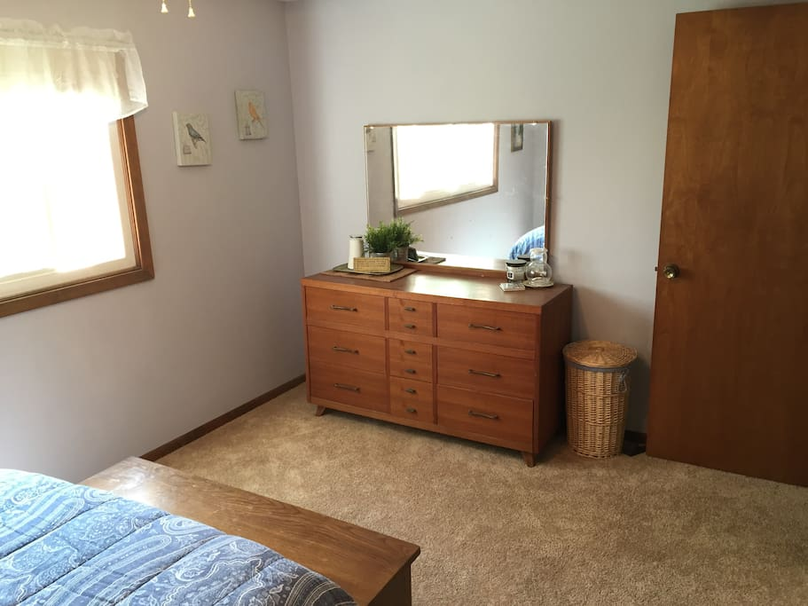 Large mirror and dresser available