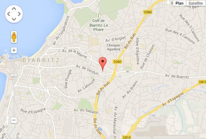 Coeur de Biarritz - plage à pied