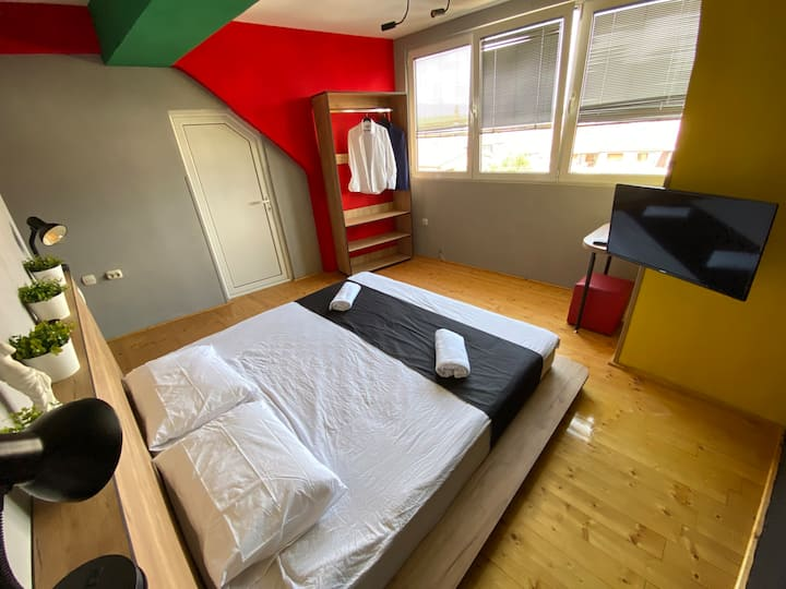 Superior Double Bed Private with Shared Bathroom