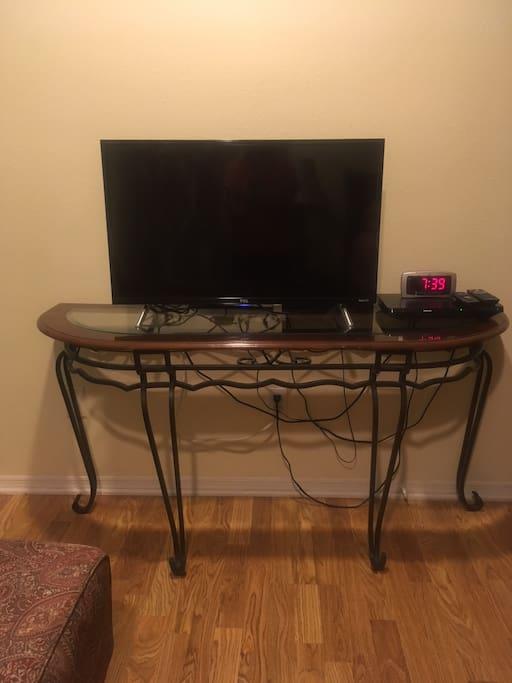 Flat Screen Smart TV and Blu-Ray
