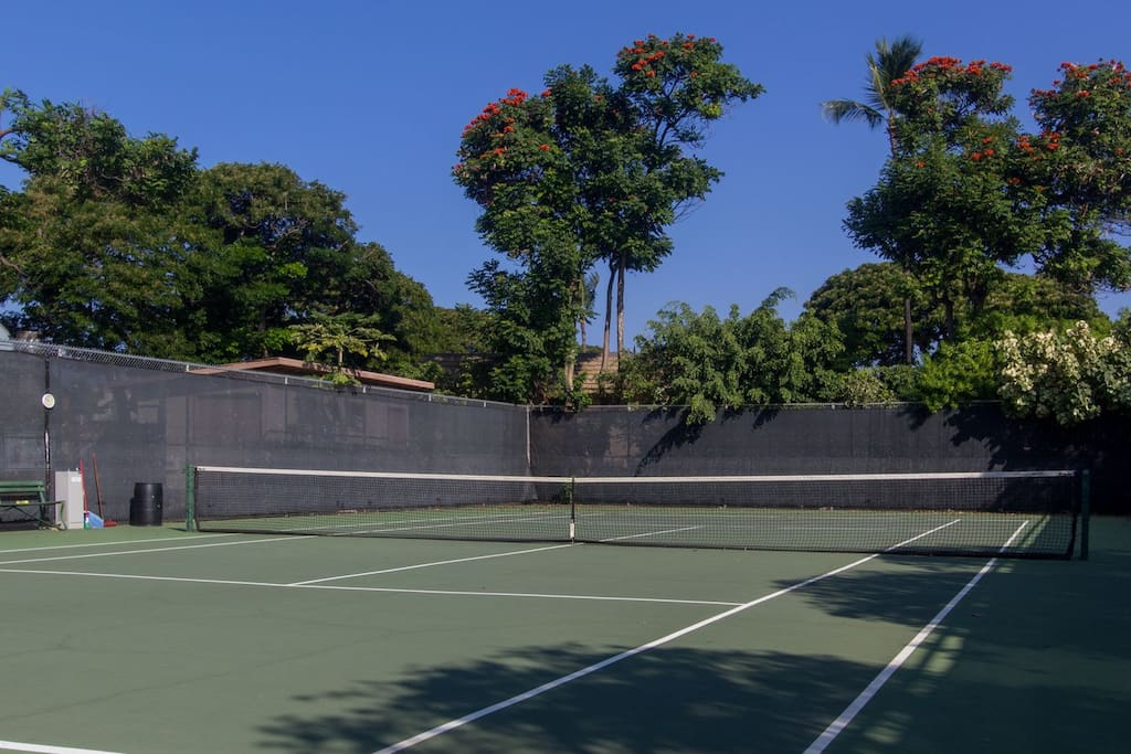 On-complex tennis courts.