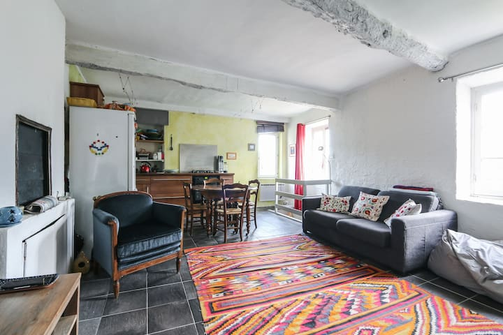 Proche Nice maison au coeur d'un village + jardin - Tourrette-Levens - Huis