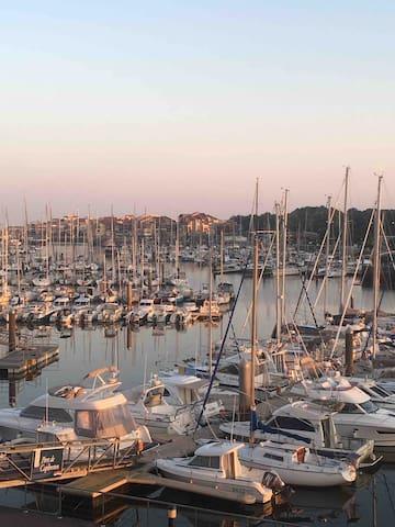 Superbe vue,  port de Capbreton, classé ***, 1 ch