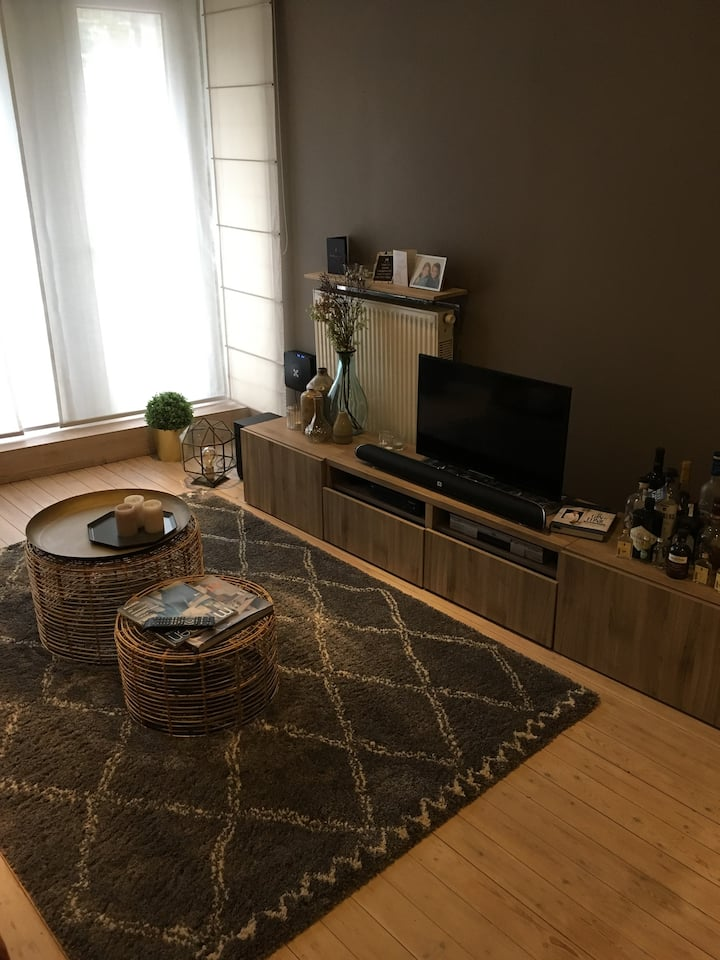 warm renovated apartment just outside Antwerp